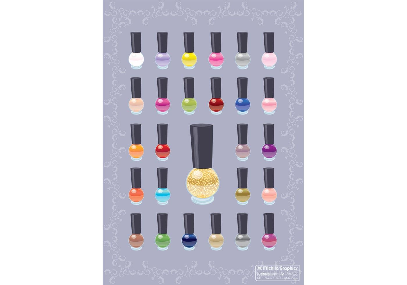 Nail Polish Color Vectors Free Vector Art At Vecteezy Com