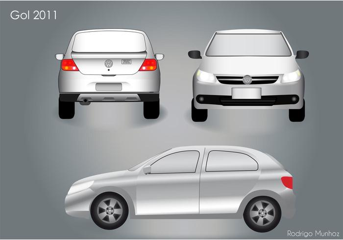 VW Gol 2011 Car Vector Pack