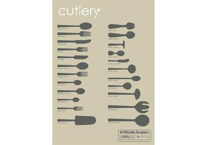 Cutlery Vector Set