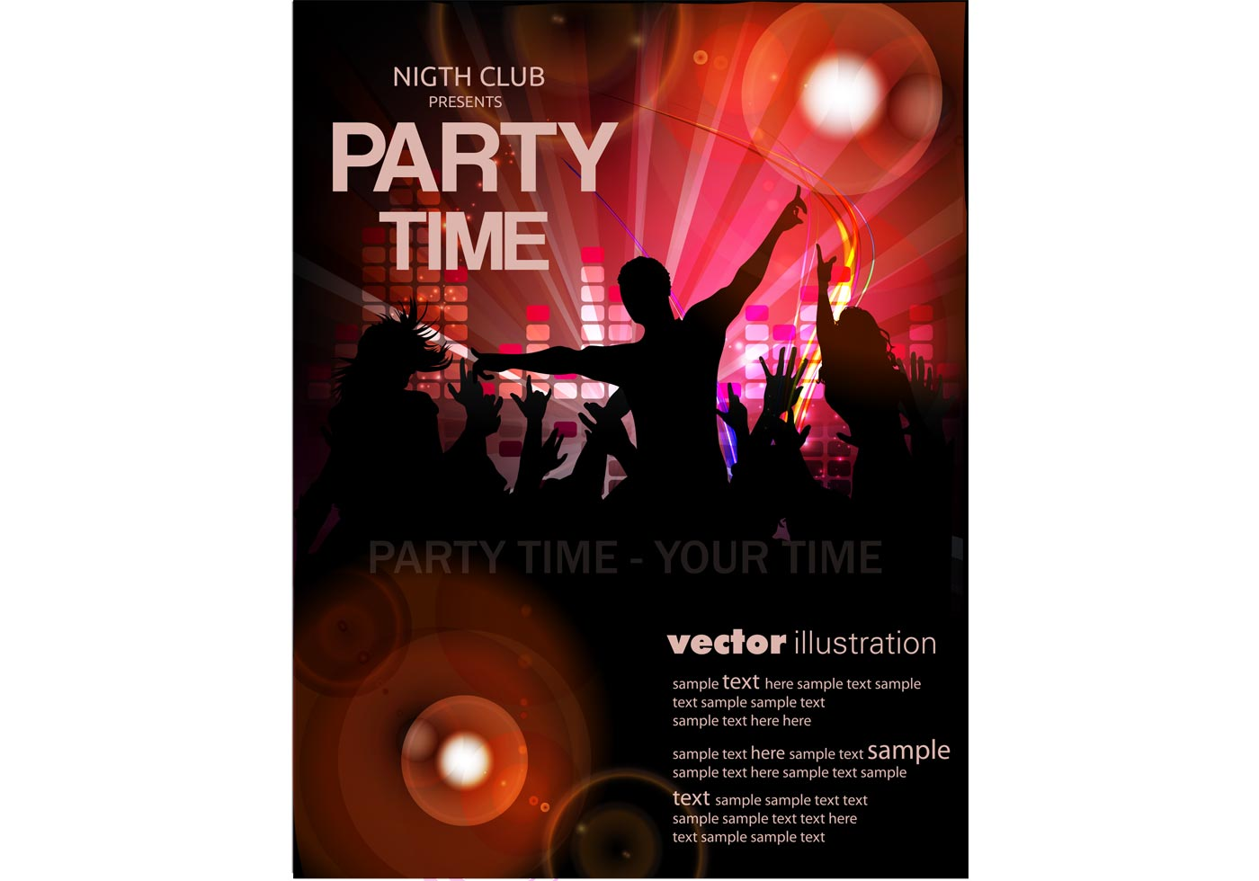 template party flyer vector art stock graphics vector template flyer