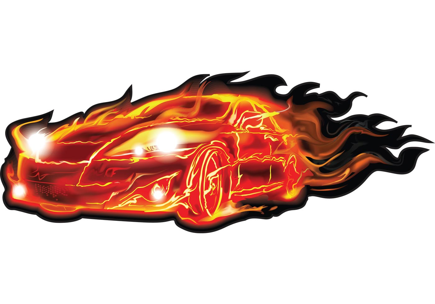 Flame Car Vector Free Vector Art At Vecteezy
