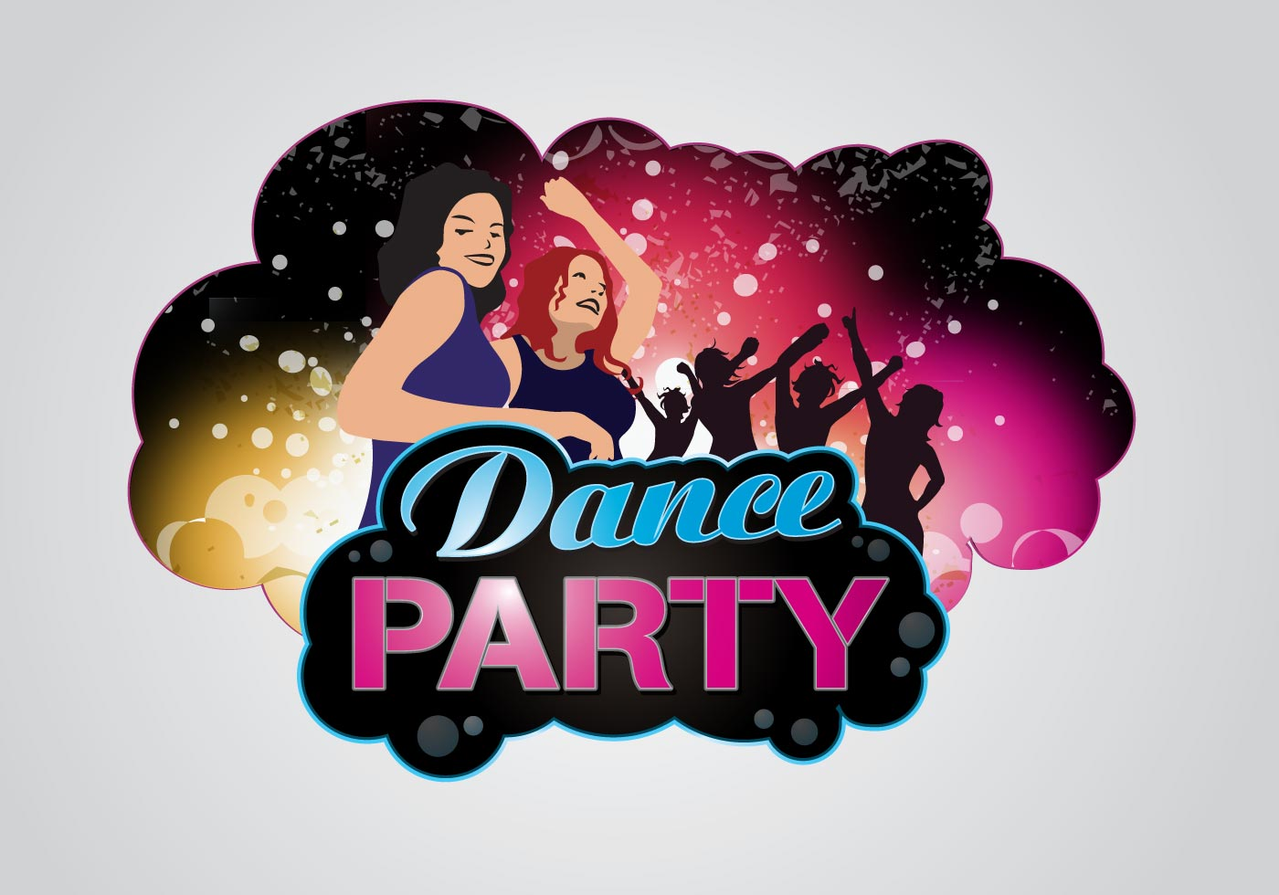 dance party logo download free vector art  stock dancing silhouette vector free dancing silhouette vector