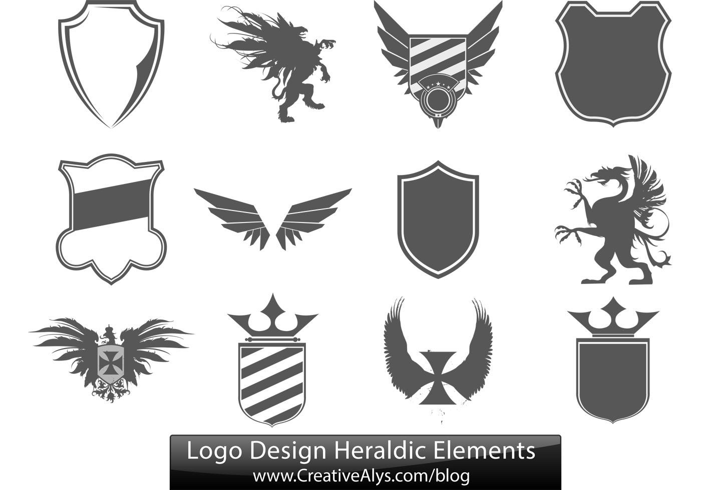logo design heraldic elements download free vector art