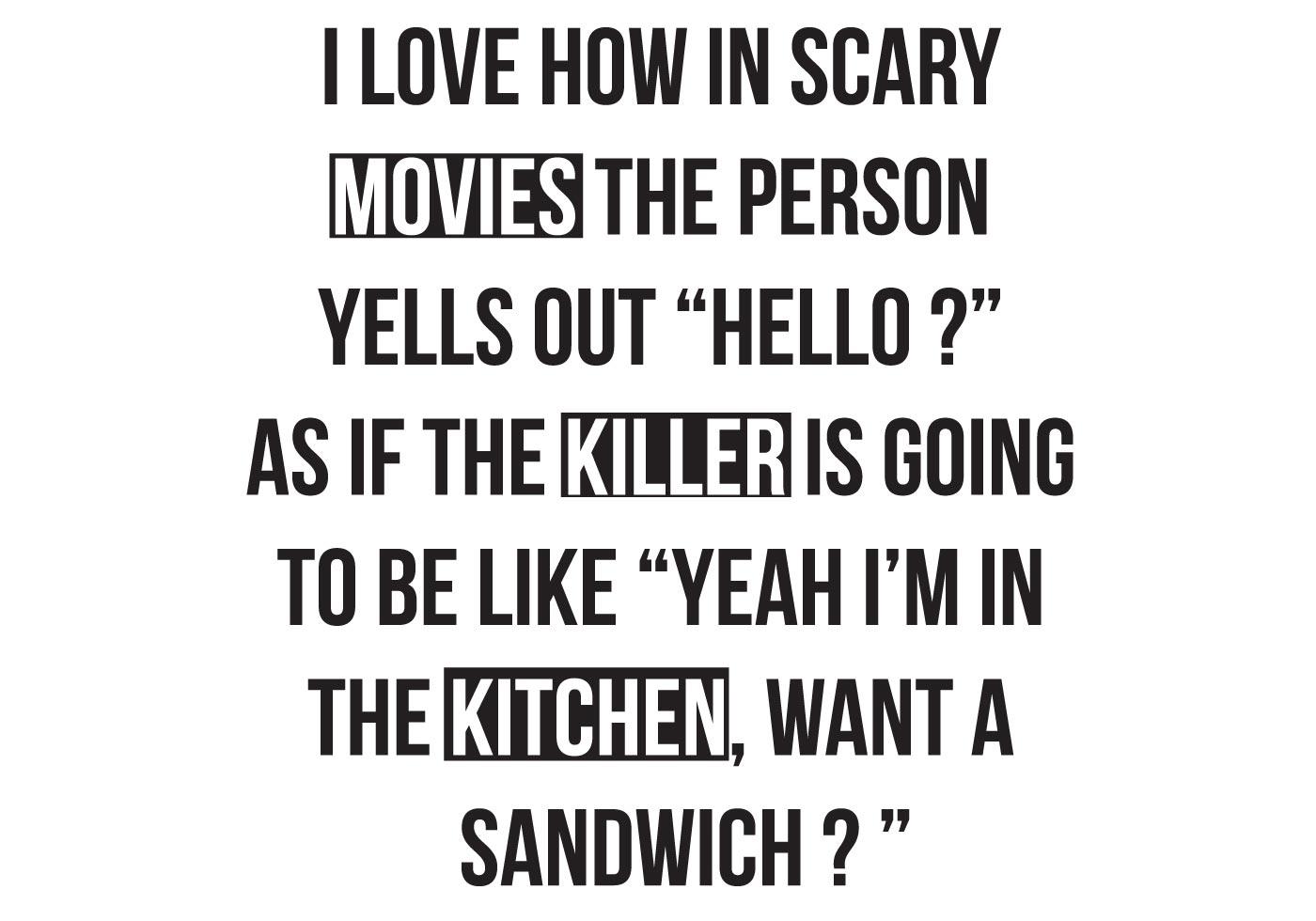 funny t-shirt  movies  killer  kitchen