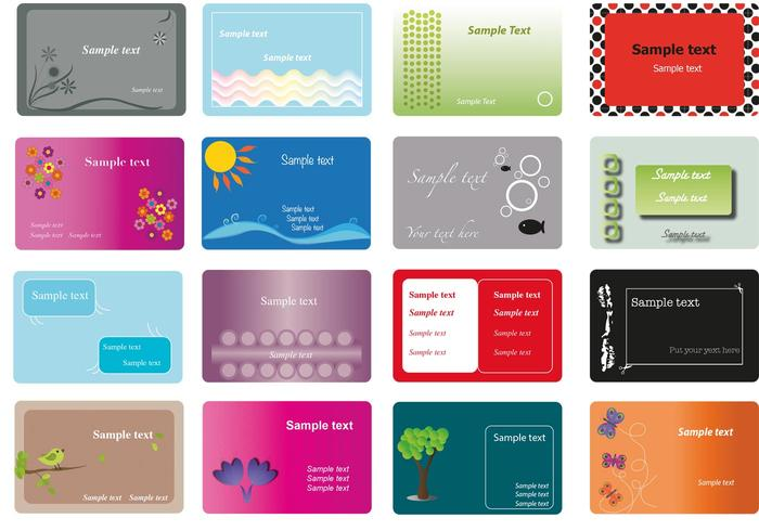 My Business Card Vector Set