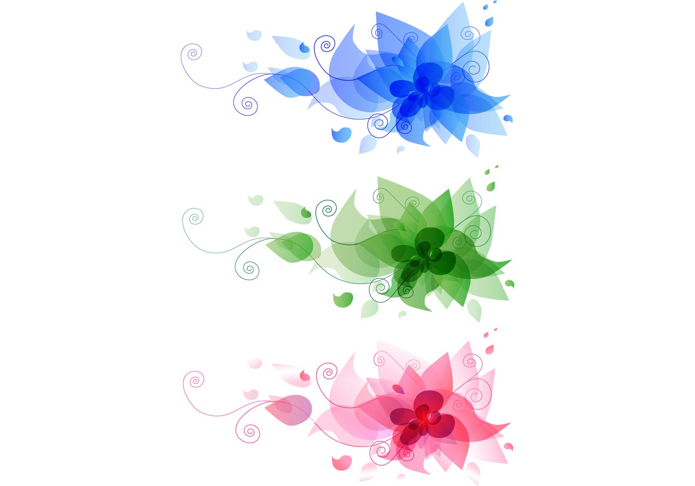 Floral Design Background Vector Free Download
