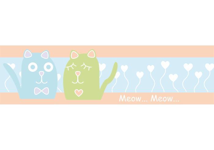 Cute Pastel Cat Vectors