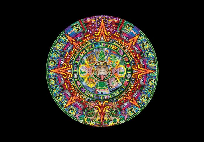 mayan calendar vector free vector art at vecteezy