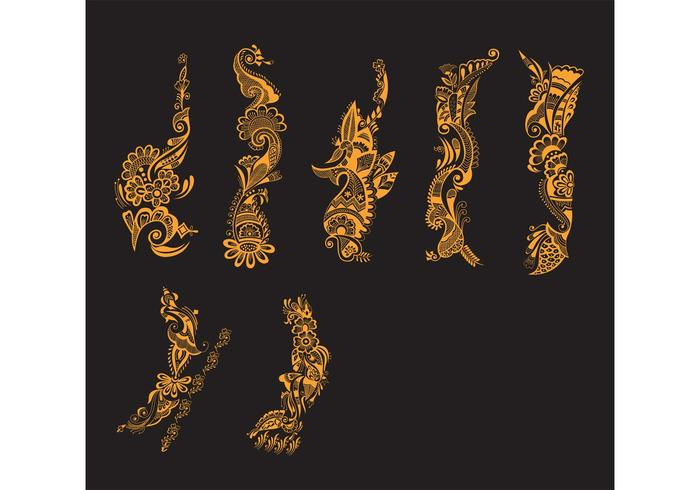 Henna Mehndi Vector Free Download : Henna tattoo download free vector art stock graphics images