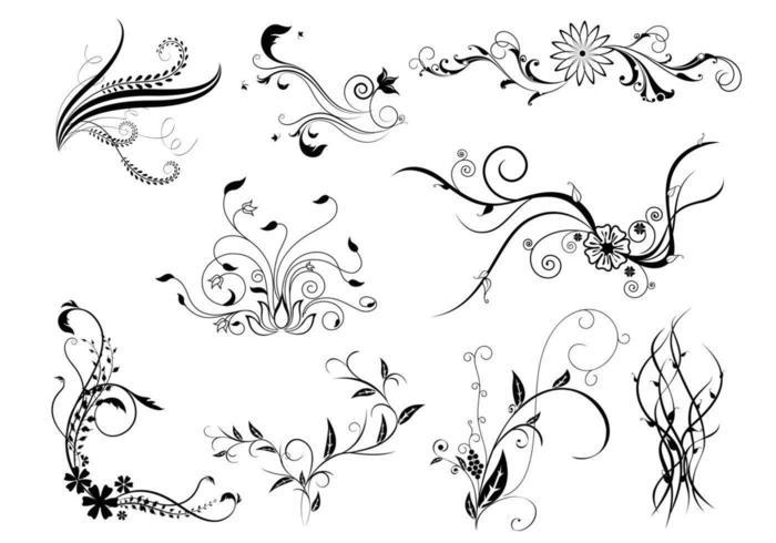 Natural Flourish Vector Pack