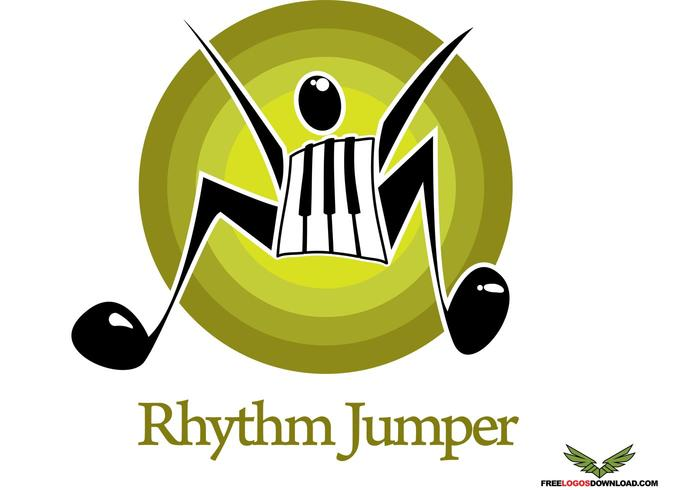 Rhythm Jumper Logo Vector