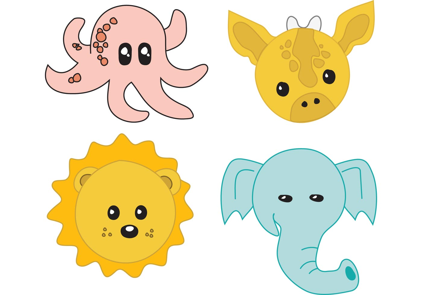 Cute Room Colors Baby Animals Download Free Vector Art Stock Graphics
