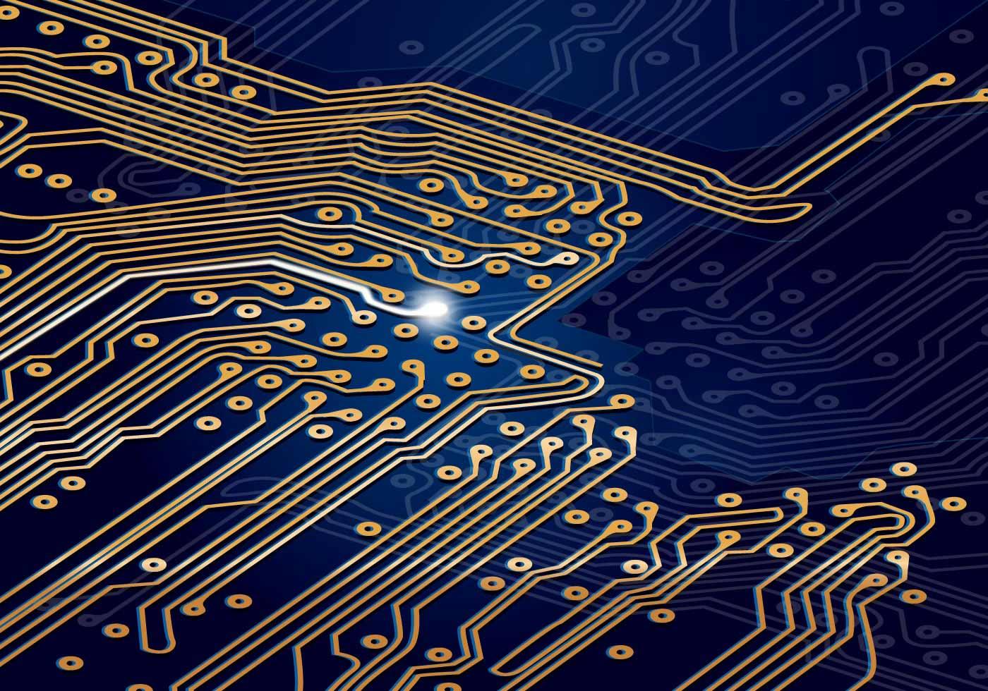 Motherboard Circuit Illustration: Download Free Vector Art, Stock