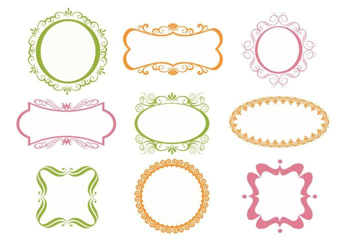 Ornate Frames Vectors Pack