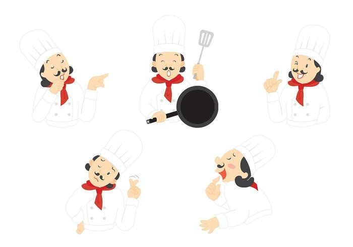 Het Expressive Chef Vector Pack