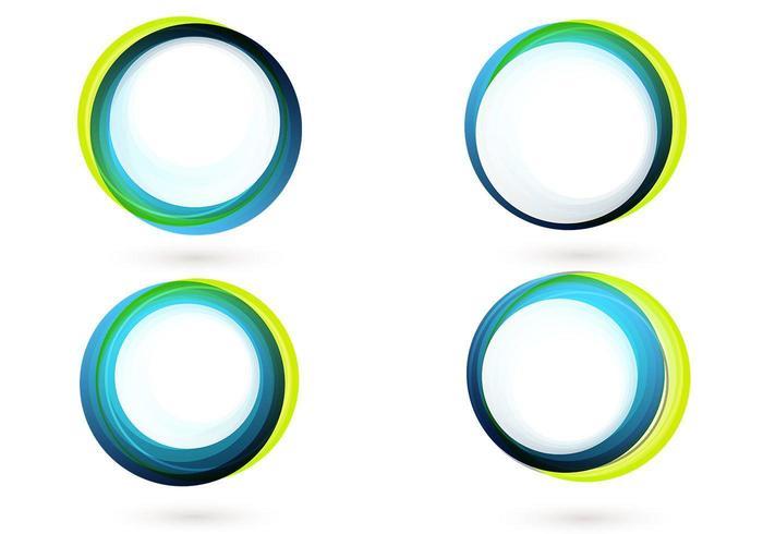 Färgglada cirkelbannervektorpaketet vektor