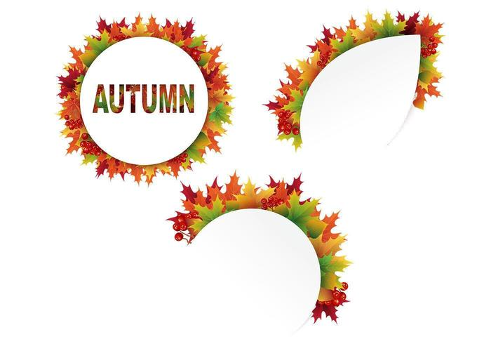Cutout Autumn Leaves Vector Pack