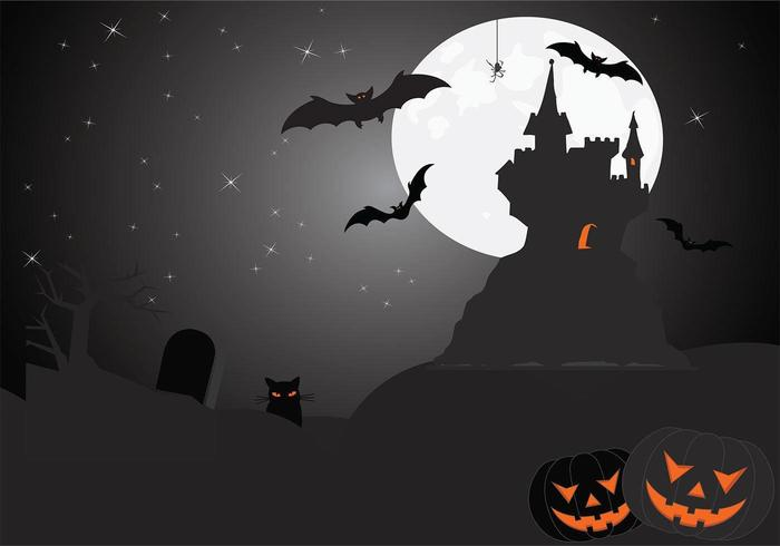 Eerie Halloween Wallpaper Vector
