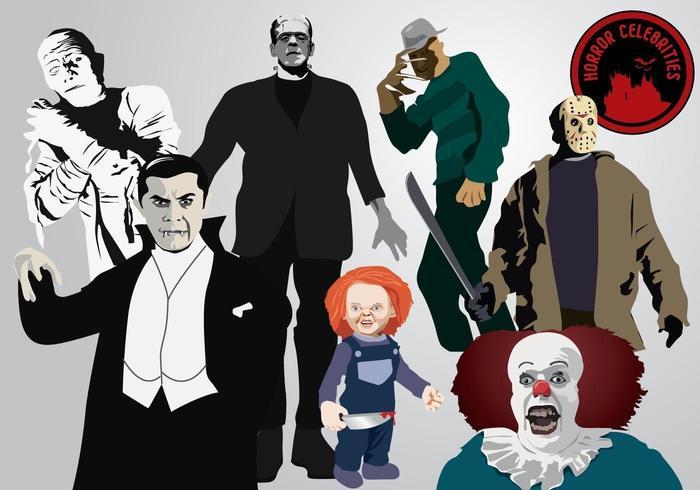 Personajes de terror vector