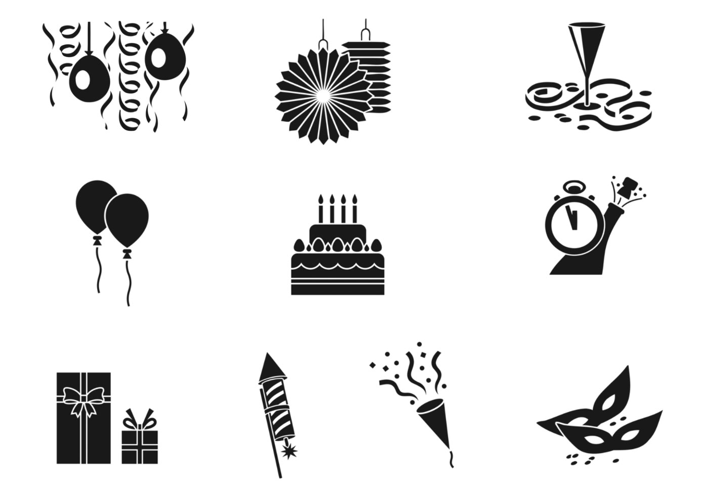 Celebratory Party Vector Pack Download Free Vectors