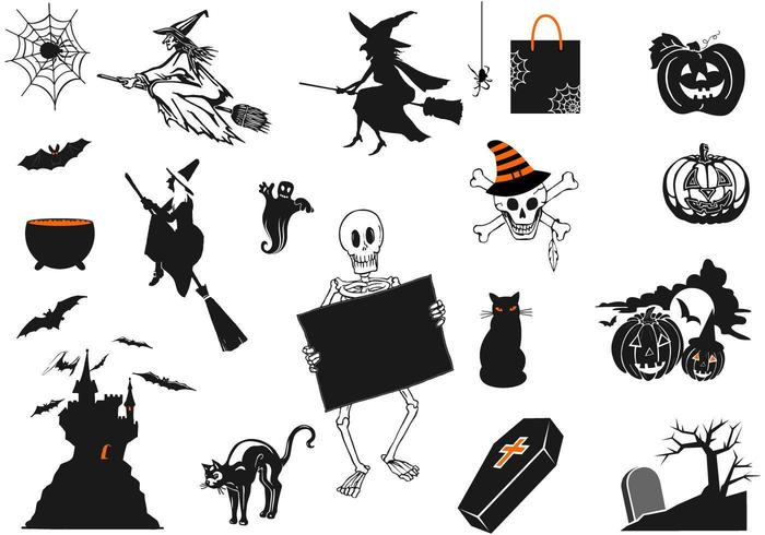 pacchetto di vettore di halloween spettrale