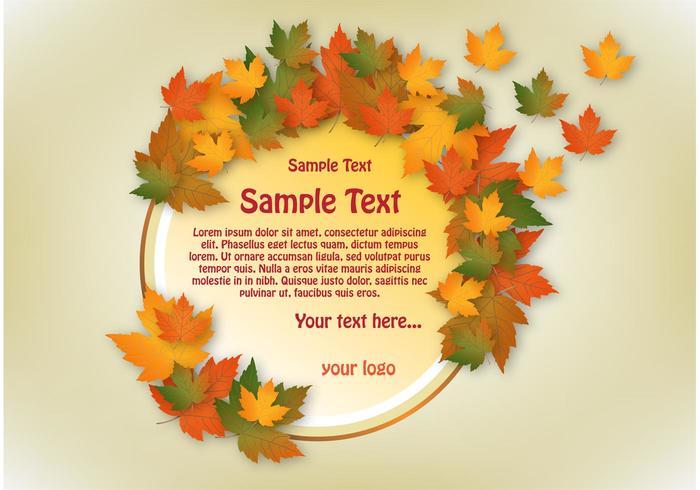 Autumn Vector Banner Circle Design