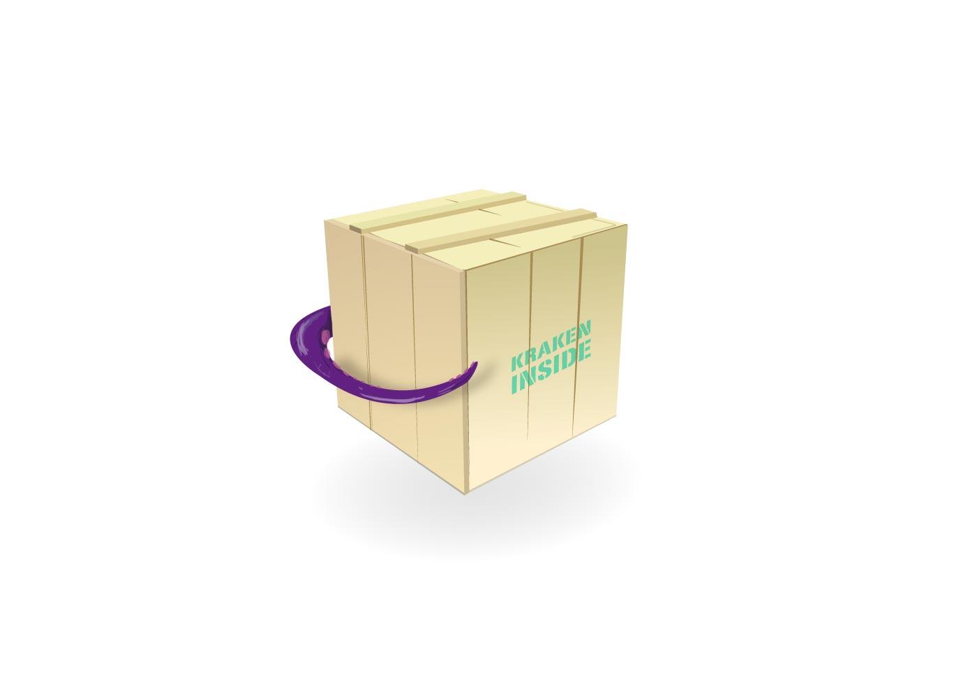 KRAKEN Wood Box Vector | Free Vector Art at Vecteezy!