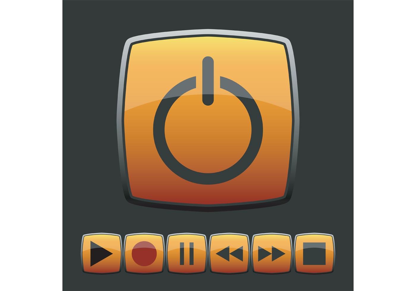 glossy web button vectors