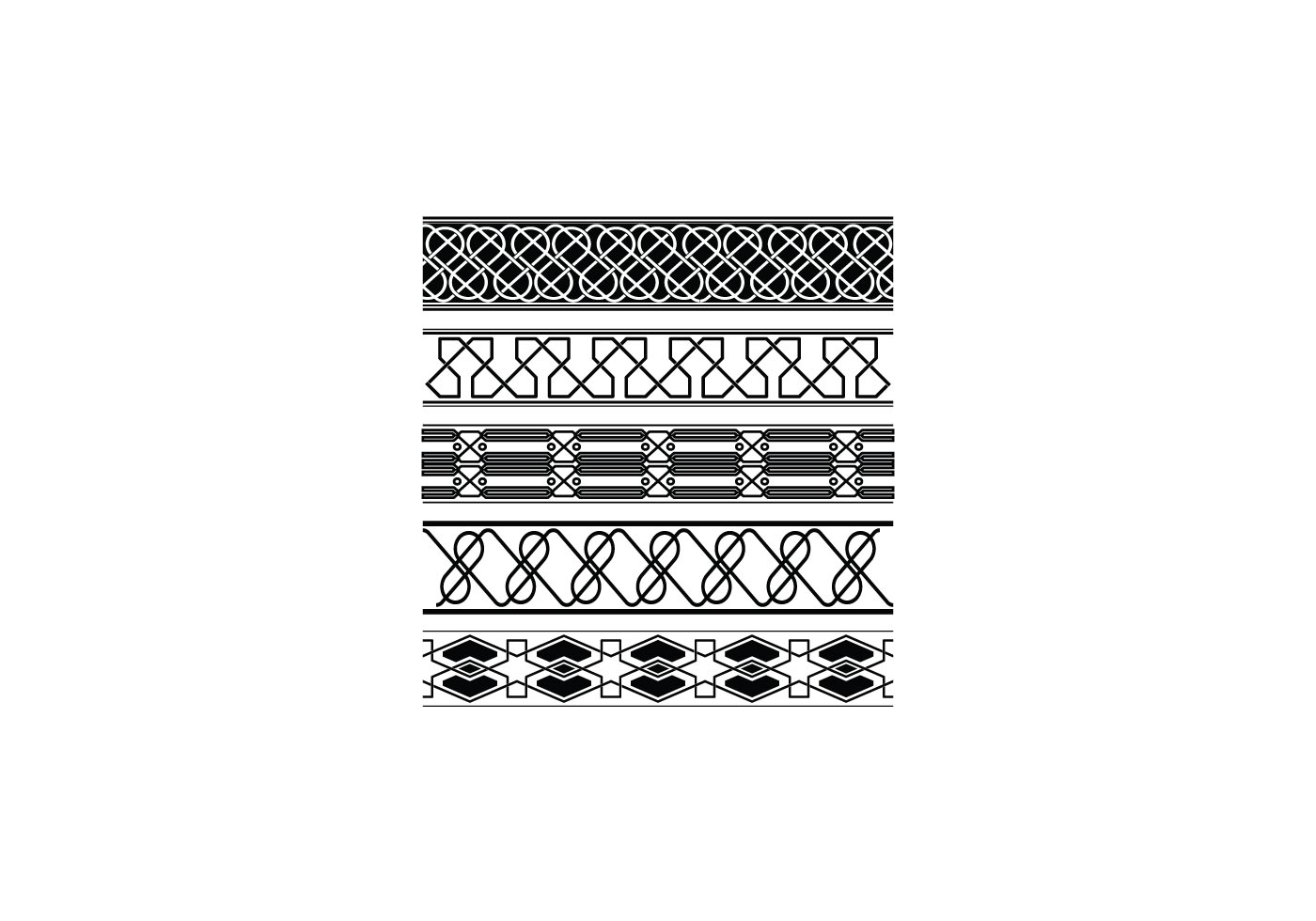 Ancient Border Vector Collection