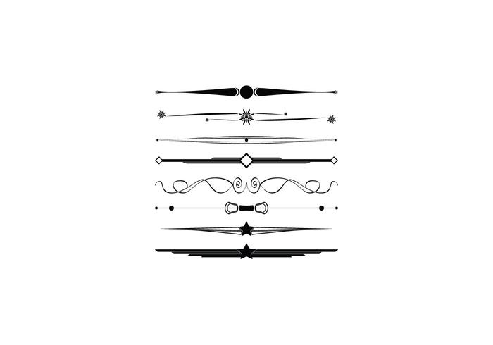 free collection of decorative border vectors and dividers - Decorative