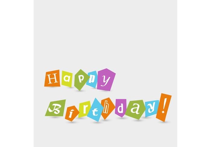 Free Vector of the Day #188: Happy Birthday Text
