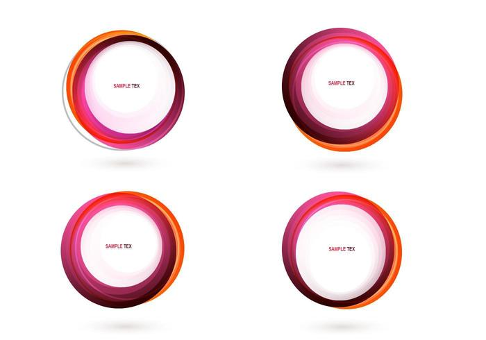 Pink Circle Banner Vector Pack