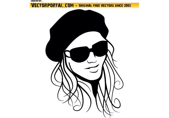 Beautiful girl vector image