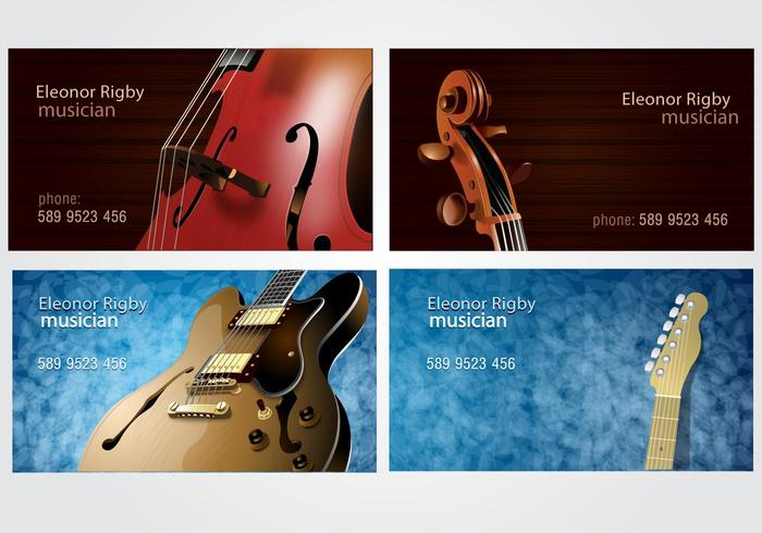 Musicians business card set download free vector art stock musicians business card set colourmoves