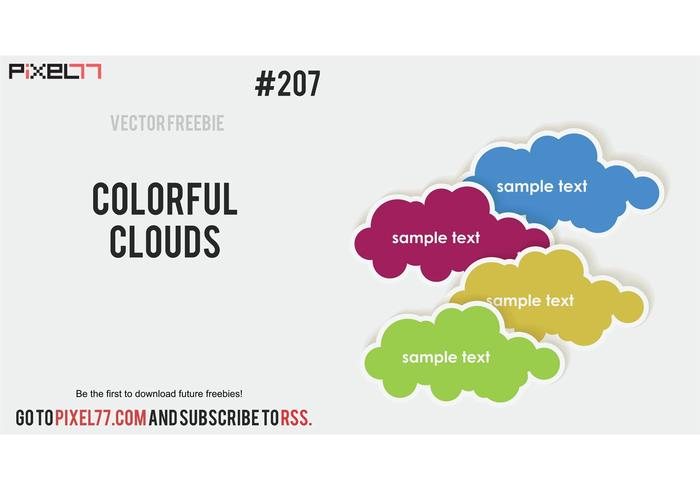 Free Vector of the Day #207: Colorful Clouds