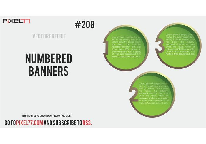 Free Vector of the Day #208: Numbered Banners
