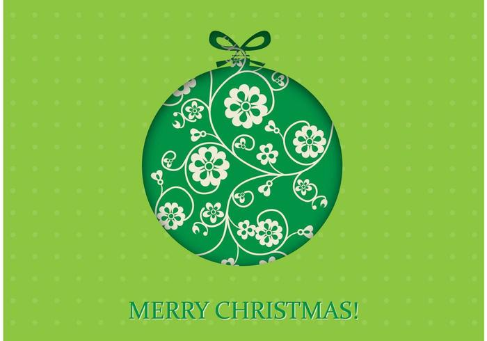 Green Christmas Vector Wallpaper