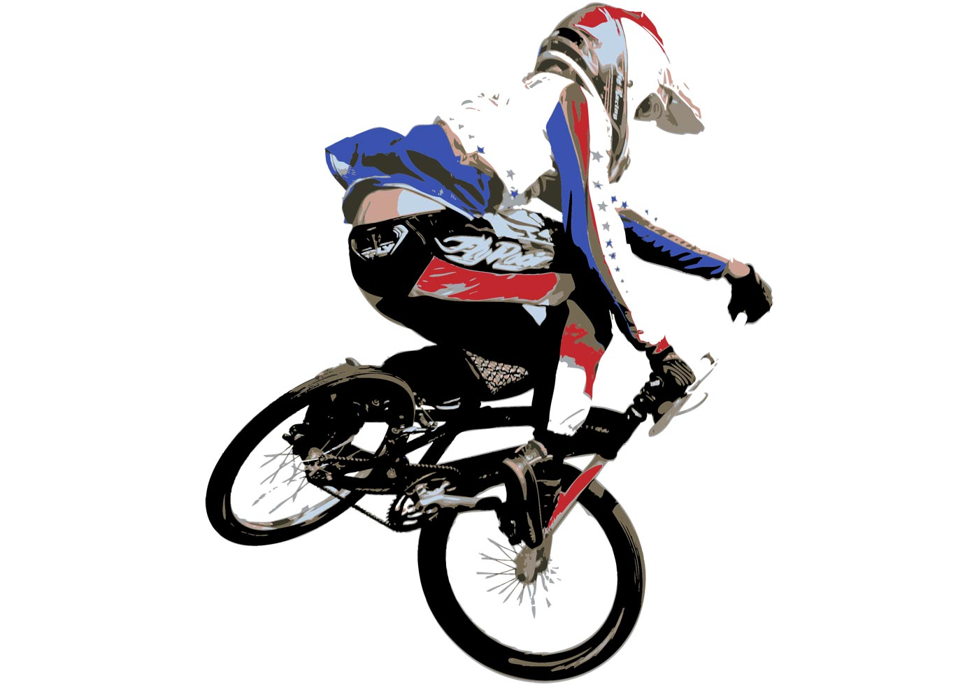 BMX Style Vector Artwork - Download Free Vector Art, Stock ...
