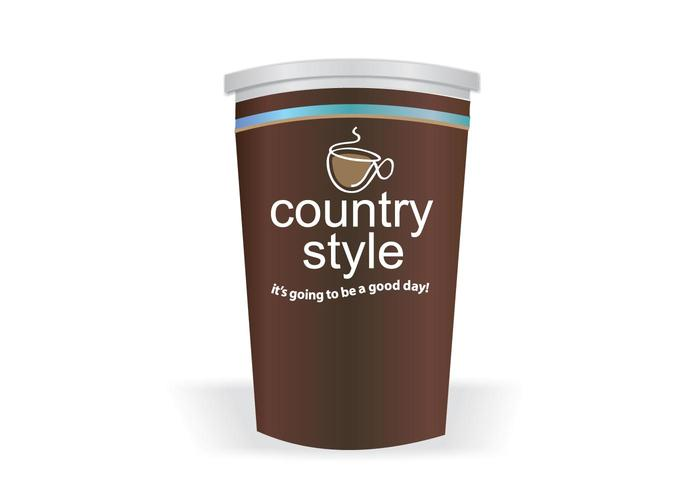 Country Style Coffee Vector