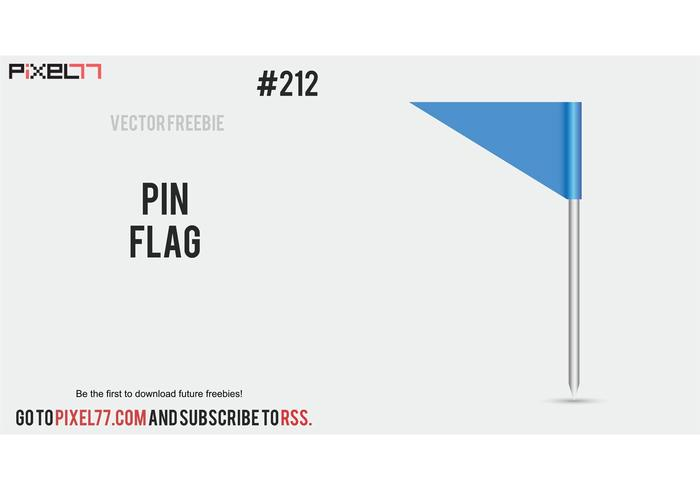 Free Vector of the Day #212: Pin Flag