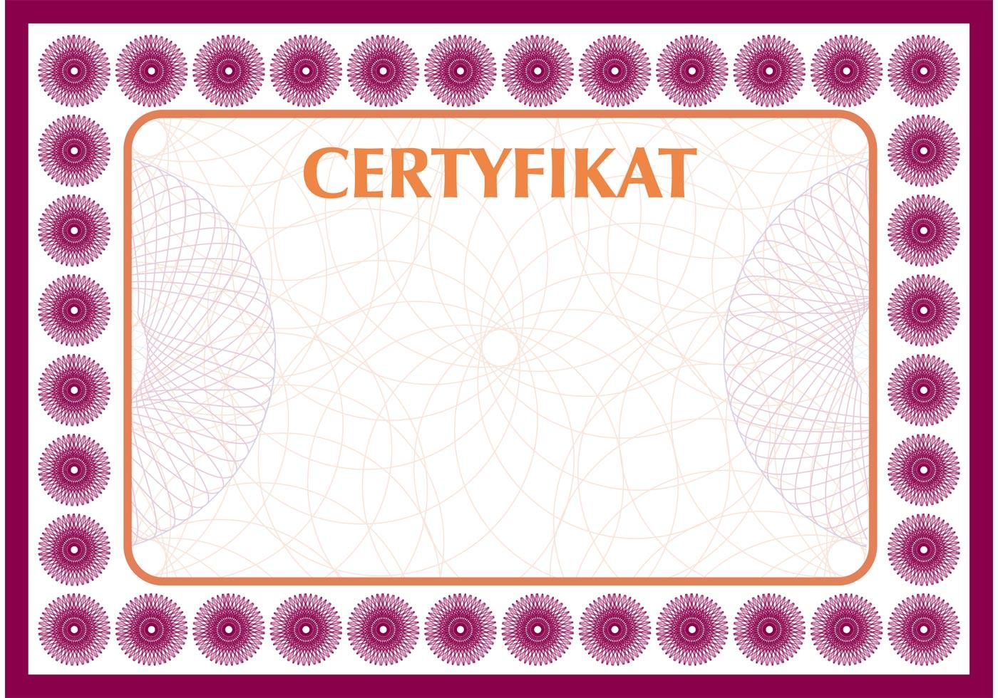 Certificate Vector Free Vector Art At Vecteezy