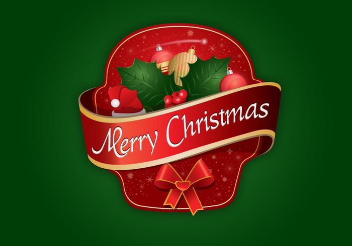 Merry Christmas Label logo