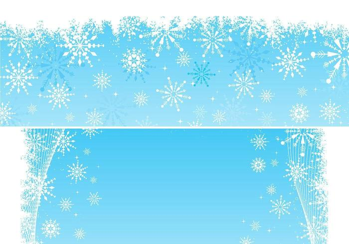 Snowflake Vector Background Pack