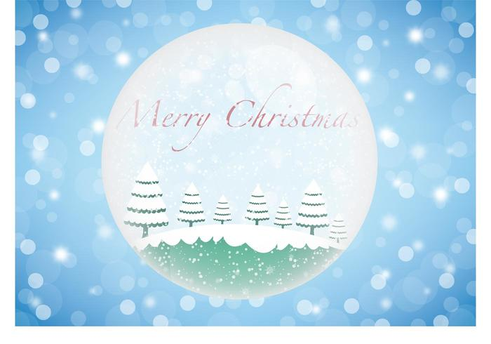 Christmas winter glass ball vector