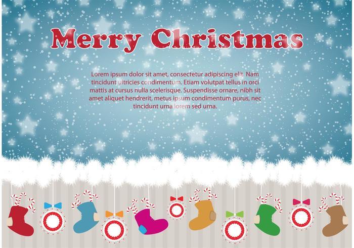 Christmas illustration card design
