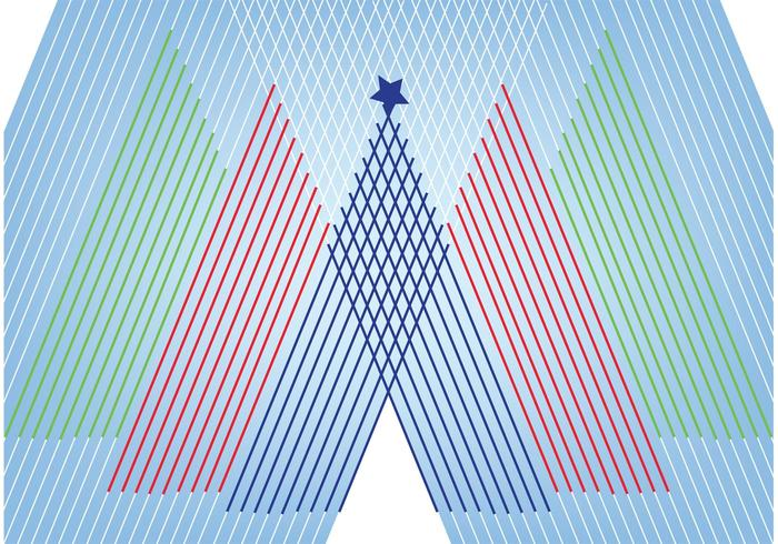 Christmas tree with lines