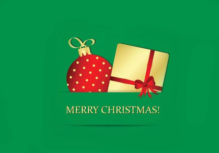 Emerald Merry Christmas Wallpaper Vector