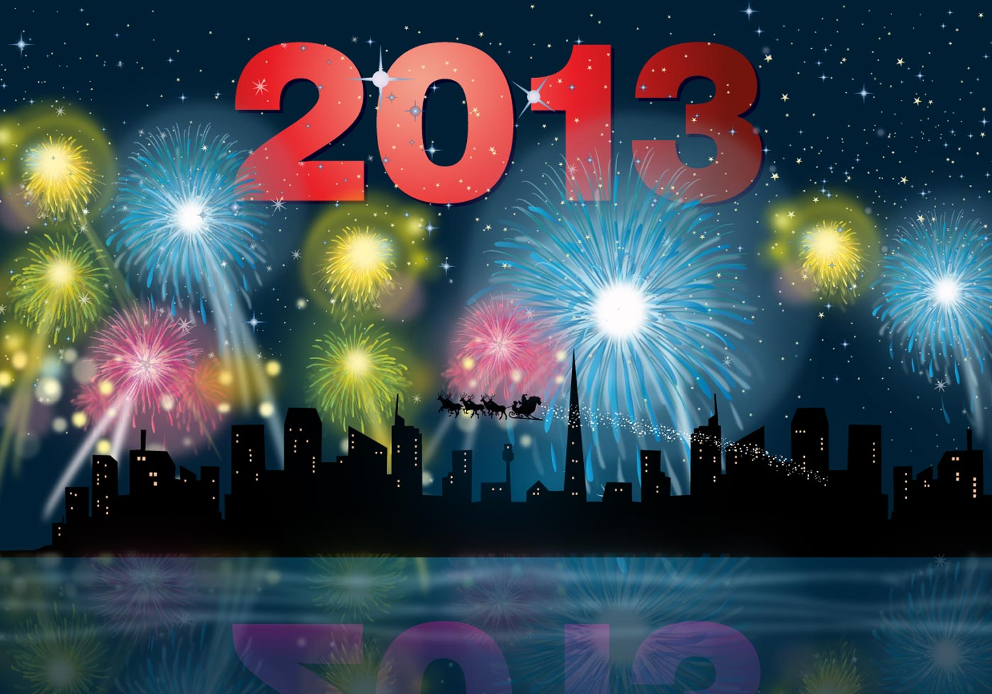 2013 Fireworks Download Free Vector Art Stock Graphics