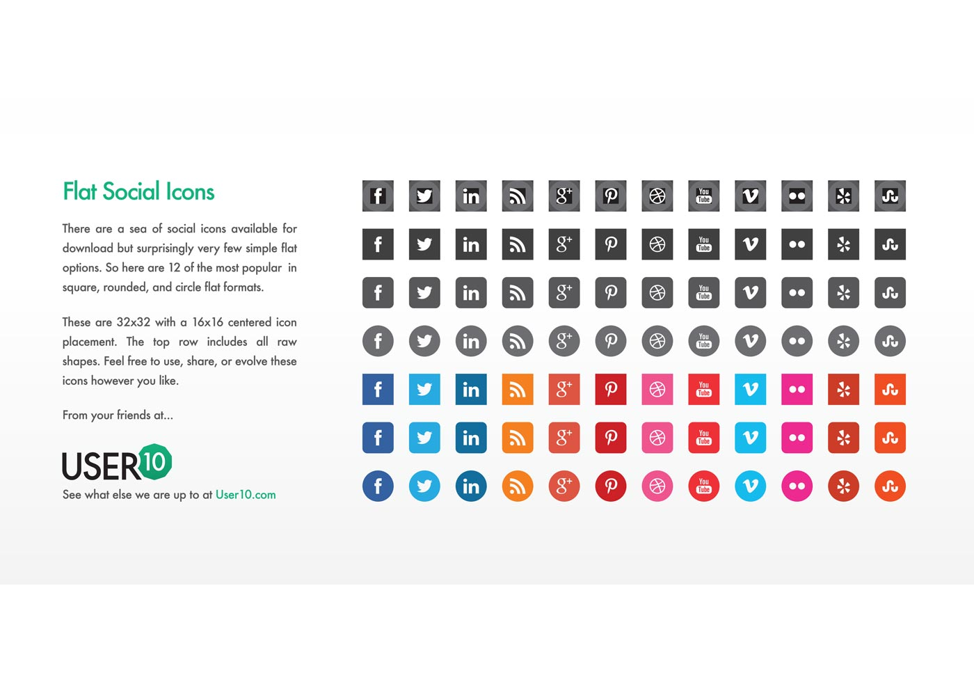 flat vector social icons  eps