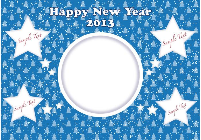 Happy New Year 2013 stars card